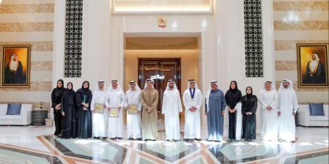[RE] Los premiados con el emir de Dubái.