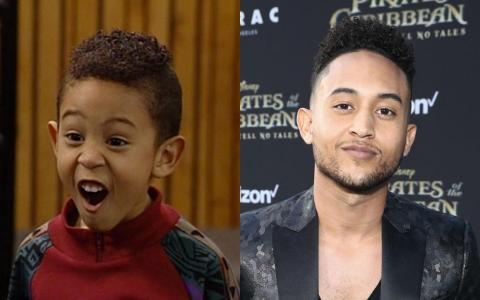 """El hermano menor de Tia y Tamera, Tahj, también comenzó a actuar en los años 90 cuando hizo un papel en """"Full House"""", el adorable Teddy."""