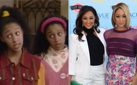 """Las gemelas Tia y Tamera Mowry se convirtieron en un gran éxito en """"Sister, Sister""""."""