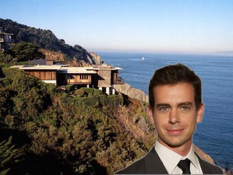 El CEO de Twitter y Square, Jack Dorsey, compró su casa en San Francisco por 9,9 millones de dólares en 2012.
