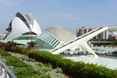 Ciudad de las Artes y las ciencias de Valencia.