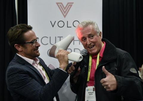 Volo's cordless hairdryer uses infrared radiant heat instead of hot air.