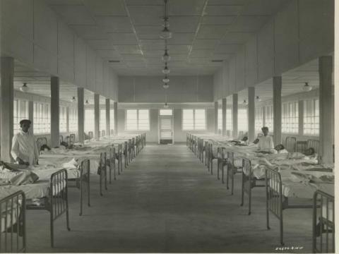... as was a modern hospital.