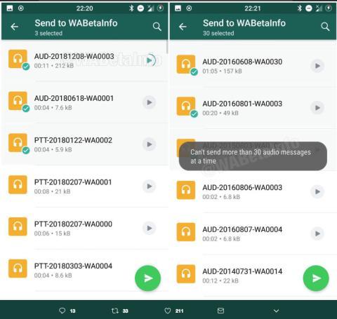 WhatsApp enviar audios