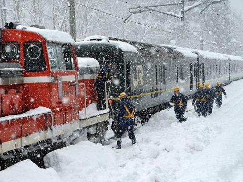 While there's a chance you could be snowed in and stuck onboard your train ...