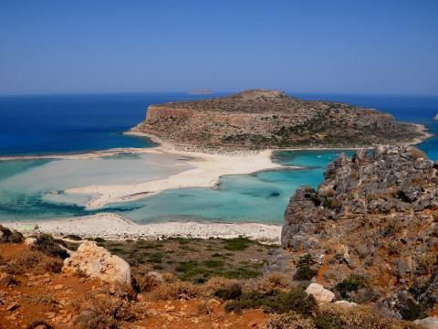 15. Laguna de Balos, Kissamos, Creta, Grecia.