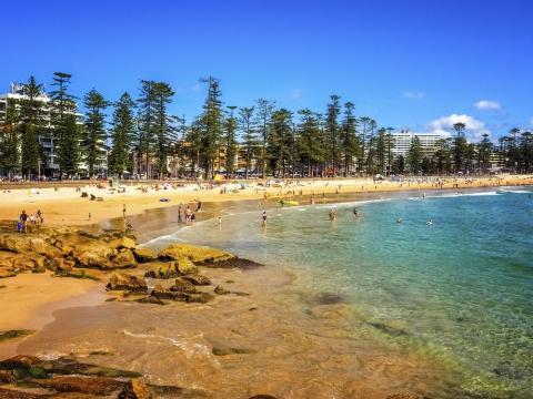 18. Playa de Manly, Sídney, Australia.