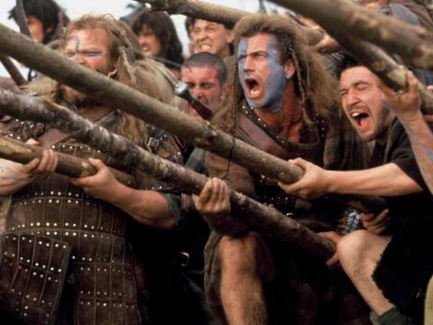 """""""Braveheart"""" fue dirgida por Mel Gibson."""