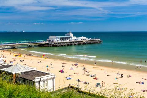 20. Bournemouth Beach, Dorset, Reino Unido.
