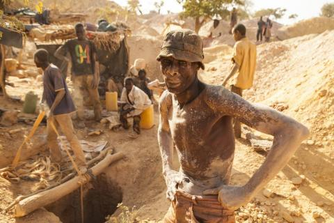 "5. This artisanal gold site in Burkina Faso was home to around 10,000 people when Brown visited in 2010. ""In this part of Africa, extraordinary gold rushes can appear out of nowhere and then disappear just as quickly as other"