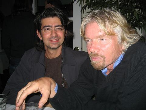 Pierre Omidyar y Richard Branson.