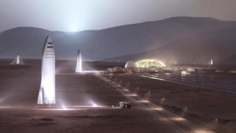 Cohetes reutilizables podrían permitir a SpaceX colonizar Marte.