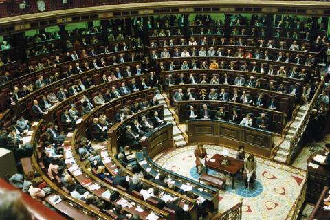 El Congreso de los Diputados, en la sesión de investidura de José María Aznar