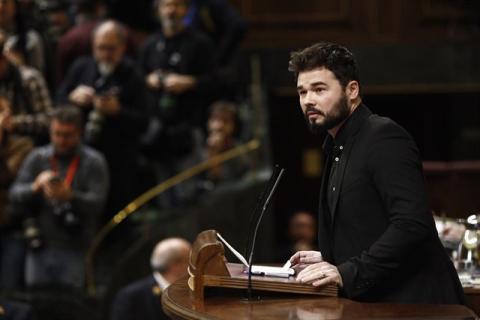 Gabriel Rufián en el Congreso.