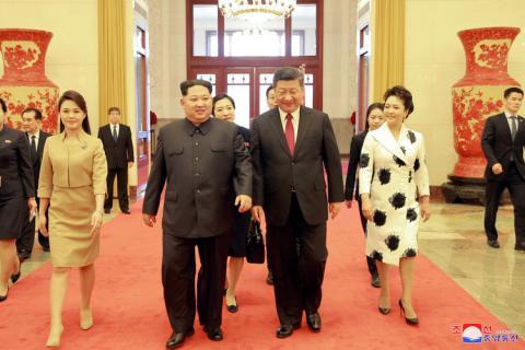 Kim Jong Un y Xi Jingping