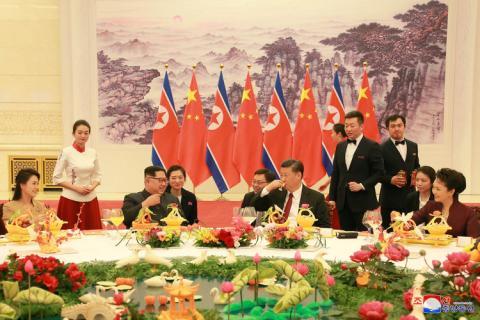 Kim Jong Un y Xi Jinpeng