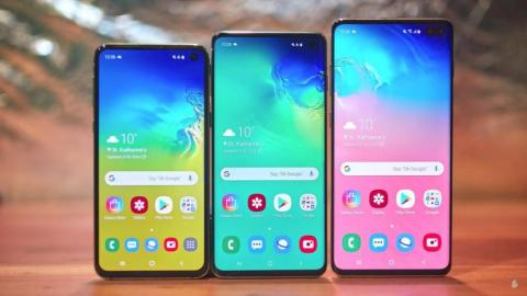 La gama Samsung Galaxy S10.