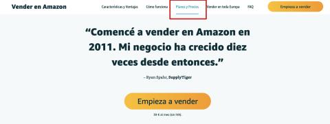 planes y precios vendedor amazon