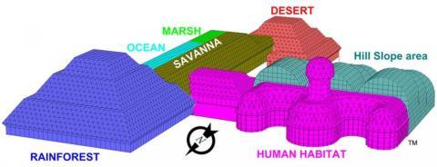 Plano de Biosphere 2, la colonia falsa de Marte