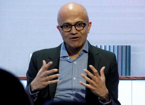 El CEO de Microsoft Corporation, Satya Nadella.