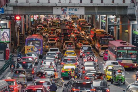 According to INRIX, drivers in Bangkok spend an average of 64 hours a year stuck in traffic.
