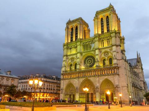 Notre-Dame before Monday's fire.