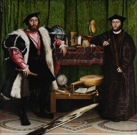 La forma amorfa en la parte inferior de esta pintura ha confundido a la gente durante siglos.