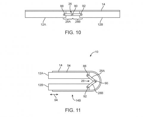 Apple's patent filings show a device that can fold in half.