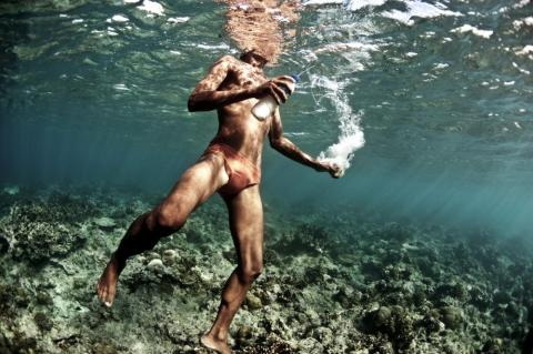 The Bajau have also taken up fishing with potassium cyanide, a chemical they shoot at target species. The chemical stuns the fish, which allows them to be sold live. But it also severely damages coral reefs.