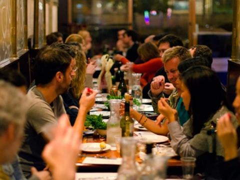 ... a basic dinner for two people at a neighborhood pub costs an average of $57 ...