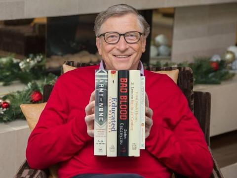 Bill Gates and other superrich people love to read.