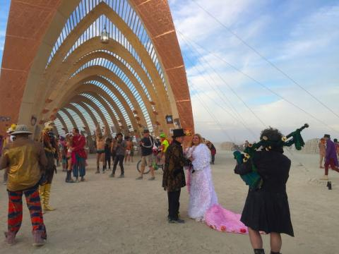 boda en burning man