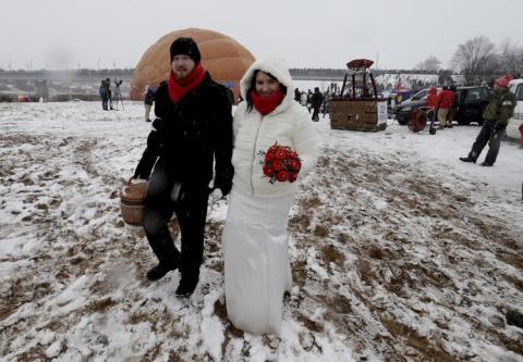 Llevaban trajes de boda tradicionales.