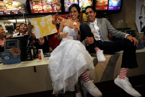 El McDonald's estaba en San Pedro Garza García, México.