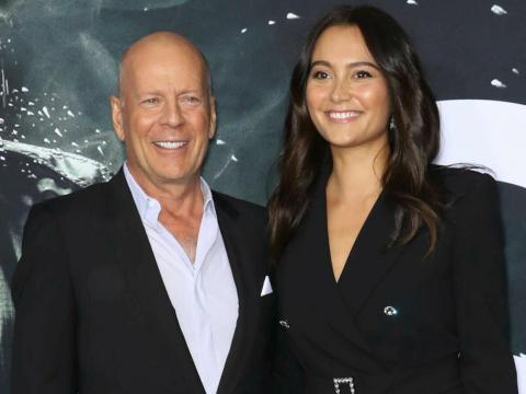 """Bruce Willis y Emma Heming en el estreno de """"Glass."""""""