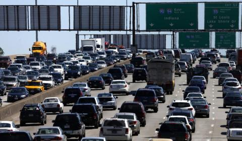 As a city of nearly 3 million people, Chicago's congestion problems mainly occur on its highways.