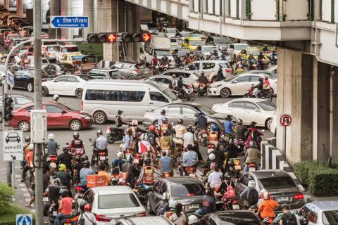 Congestion is also fed by the millions who use motorbikes to get around the city, as there are 20 million motorbikes registered in Thailand.