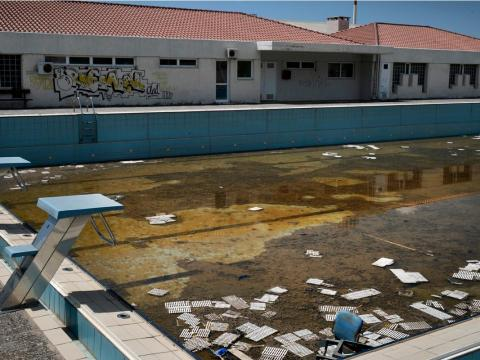 Athens' Olympic pool now abandoned.