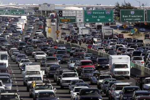 Drivers in San Francisco spends an average of 79 hours stuck in traffic.