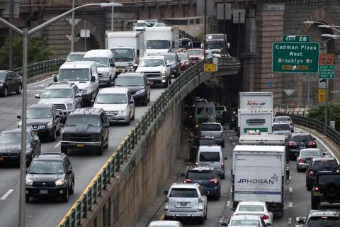 Each New York commuter spends an average of 91 hours a year stuck in traffic.
