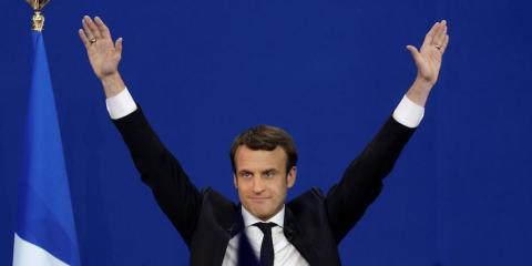 El presidente de Francia Emmanuel Macron