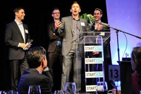 Los fundadores de StartOut, de izquierda a derecha: Joe DiPasquale, Lorenzo Thione, Bryan Janeczko y Darren Spedale.