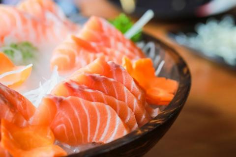 """Fresh, never frozen sashimi does not exist in the US."""
