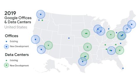 Nuevas oficinas y centros de datos de Google