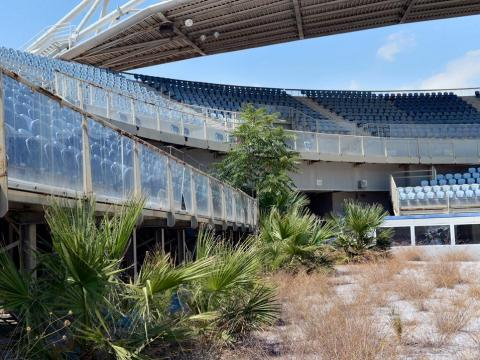 On a grander scale, the Greek government spent a large sum of money to build elaborate venues for the 2004 Olympic games in Athens, but now all the buildings are abandoned.