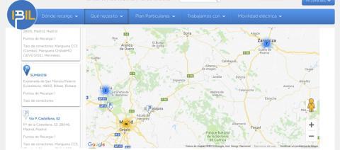 A excepción del de Alovera (Guadalajara), IBIL no dispone de ningún punto de carga entre Madrid y Zaragoza