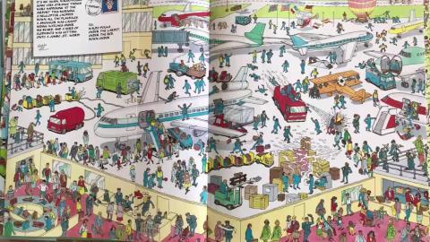 """Si no puedes """"Encontrar a Wally"""" en esta imagen en menos de 5 segundo, puedes pedir ayuda a este simpático robot."""