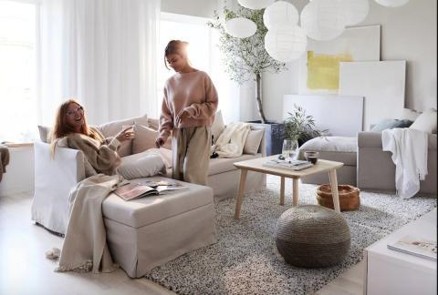 Ikea estancia alfombra
