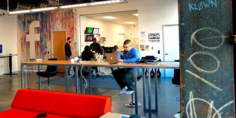 Inside Facebook's Menlo Park, California, headquarters.