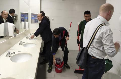 Los limpiadores del MWC